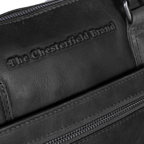Chesterfield Leren Dames Laptoptas 15 inch Hana Zwart Detail