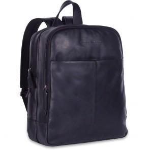 Chesterfield Leren Laptop Rugtas 15 inch Dex Zwart Voorkant