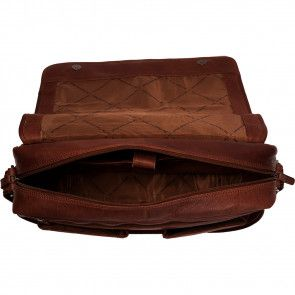Chesterfield Leren Laptoptas 15 inch Cairns Bruin Open