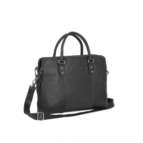 Chesterfield Maria 3-vaks Shoulderbag Black 15 inch Voorkant