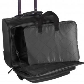 Chesterfield Leren Trolley Xavi Zwart 15 inch Laptoptas/sleeve