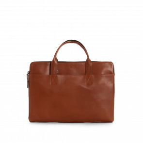 Still Nordic Leren Laptoptas 14 inch Clean Slim Brief 1 Room Cognac
