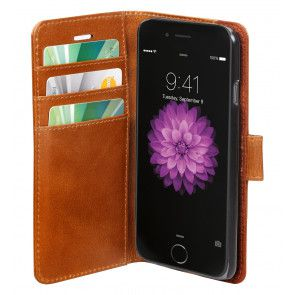 dbramante1928 Copenhagen Leather Wallet iPhone 6 Tan Open