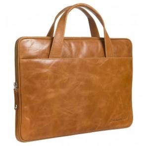 dbramante1928 Silkeborg Leather Sleeve Tan 13 inch Voorkant