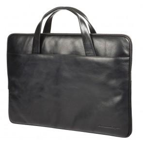 dbramante1928 Silkeborg Leather Sleeve Black 13 inch Voorkant