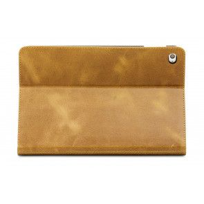 dbramante1928 Copenhagen 2 Leather Folio Case iPad Mini 4 Tan Achterkant Stand