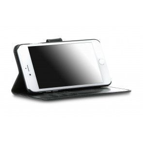 dbramante1928 Copenhagen 2 Leather Wallet iPhone 7 Plus Black Stand