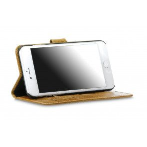 dbramante1928 Copenhagen 2 Leather Wallet iPhone 7 Plus Tan Stand
