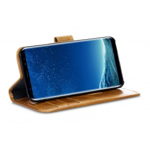 dbramante1928 Copenhagen 2 Leather Wallet Samsung Galaxy S8 Hoesje Tan Kijkstand