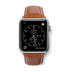 dbramante1928 Copenhagen Watch Strap 38mm Silver/Tan voorkant