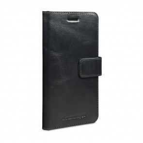 dbramante1928 Copenhagen Leather Wallet Samsung S7 Edge Black voorkant schuin links