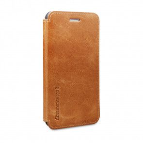 dbramante1928 Frederiksberg 2 Leather Wallet iPhone 6/6S Tan schuin voorkant links