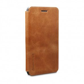 dbramante1928 Frederiksberg 2 Leather Wallet iPhone 6/6S Plus Tan schuin voorkant links