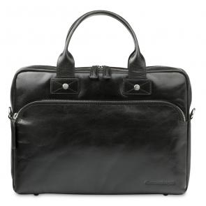 dbramante1928 Helsingborg Businessbag Dark Brown 14 inch Voorkant