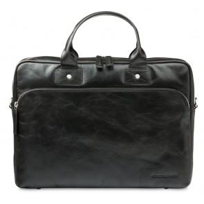 dbramante1928 Helsingborg Businessbag Dark Brown 16 inch Voorkant