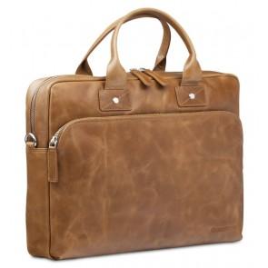 dbramante1928 Helsingborg Businessbag Tan 16 inch Voorkant