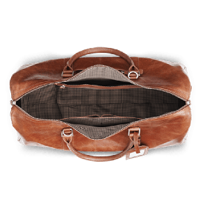 dbramante1928 Kastrup 2 Weekender Bag Dark Tan Open