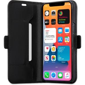 dbramante1928 Leren Wallet Hoesje iPhone 12 & 12 Pro Copenhagen Zwart Open