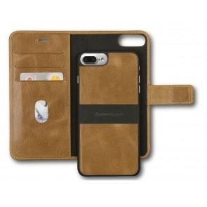 dbramante1928 Lynge 2 Leather Wallet iPhone 7 Plus Tan Open