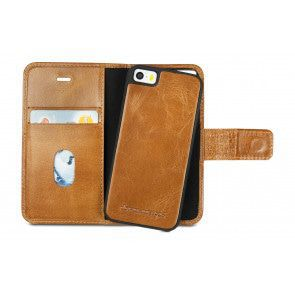 dbramante1928 Lynge Leather Wallet iPhone 5/5S/SE Hoesje Tan Open