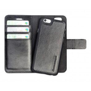 dbramante1928 Lynge Leather Wallet iPhone 6/6S Black met losse cradle/backcover