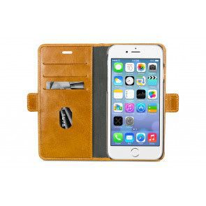 dbramante1928 Lynge Leather Wallet iPhone 8/7/6 Plus hoesje Tan Open