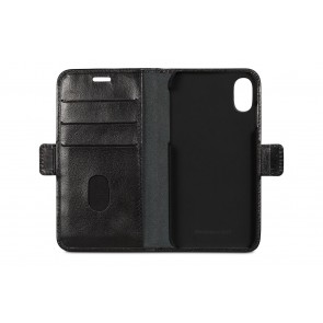 dbramante1928 Lynge Leather Wallet iPhone X / XS Black Open