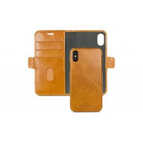 dbramante1928 Lynge Leather Wallet iPhone X / XS Tan Open
