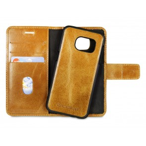 dbramante1928 Lynge Leather Wallet Samsung S7 Tan open cradle achterkant