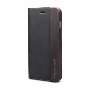 dbramante1928 Risskov iPhone 6/6S Hunter Dark & Black Wood schuin voorkant rechts