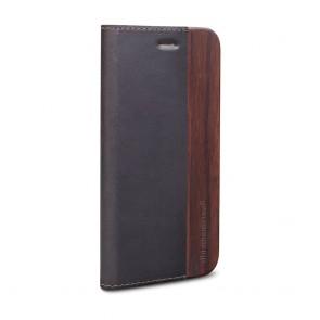 dbramante1928 Risskov iPhone 6/6S Plus Hunter Dark & Black Wood schuin voorkant links