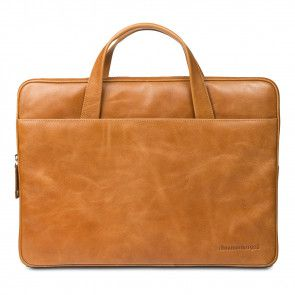 dbramante1928 Silkeborg Leather Sleeve Tan 15 inch voorkant