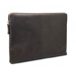 dbramante1928 Skagen Leather Sleeve MacBook 12 inch Hunter Dark schuin voorkant links