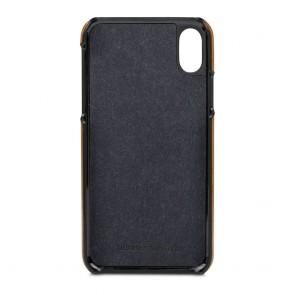dbramante1928 Tune cc Leather Backcover iPhone X Tan Binnenkant