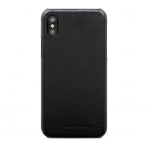 dbramante1928 Tune Leather Backcover iPhone X Black Achterkant