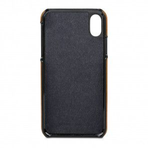 dbramante1928 Tune Leather Backcover iPhone X Tan Binnenkant