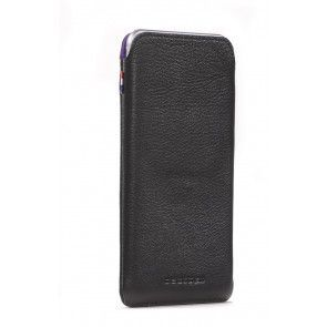 Decoded Leather Pouch Strap iPhone 6 Plus Black Voor- zijkant