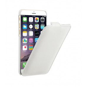 Decoded iPhone 6 Leather Flip Case White Voorkant Open