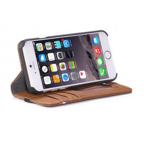Decoded iPhone 6 Leather Wallet Case v2 Brown Stand