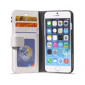 Decoded iPhone 6 Leather Wallet Case v2 White Open