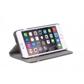 Decoded iPhone 6 Plus Leather Surface Wallet Black Stand