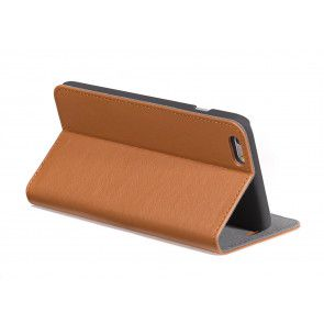 Decoded iPhone 6 Plus Leather Surface Wallet Brown Stand Achterkant