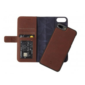 Decoded Leather 2 in 1 Wallet Case iPhone 7 Plus/6S Plus/6 Plus Brown Open