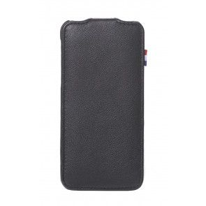 Decoded iPhone 5/5S/SE Leather Flip Case Black Voorkant
