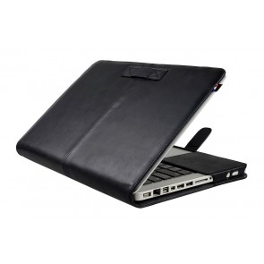 Decoded Leather Sleeve Strap MacBook Air 11 inch Black Open