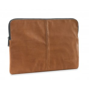 Decoded Leather Slim Sleeve MacBook Pro 15 inch Brown Voorkant