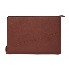 Decoded Leather Slim Sleeve MacBook Pro 13 inch / Pro Retina 13 inch Brown Achterkant