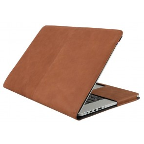 Decoded Leather Sleeve MacBook Air 15 inch Vintage Brown Voor-zijkant
