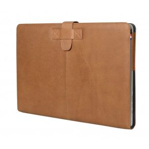 Decoded Leather Sleeve MacBook Pro 13 inch Retina Vintage Brown Strap Voorzijde