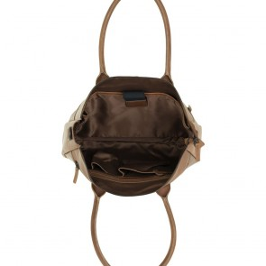 DSTRCT Dames Leren Laptoptas 15.6 inch River Side Cognac Open